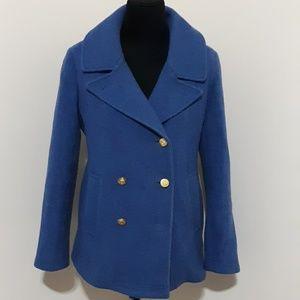 J Crew Blue Stadium  Jacket by Nello Gori Sz 8